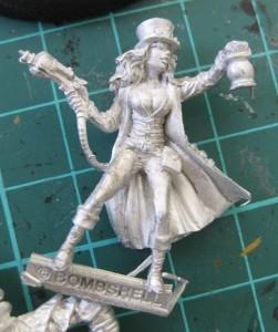 Professor Karrick and her lantern and ray gun